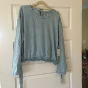 Frame Denim Blouse L New with Tags
